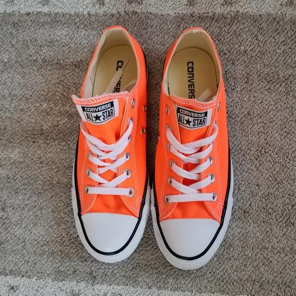 Converse All Star Neon Orange Shoes